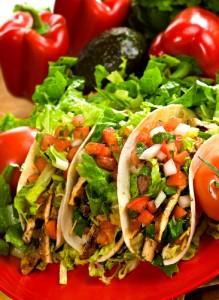 leftover chicken tacos