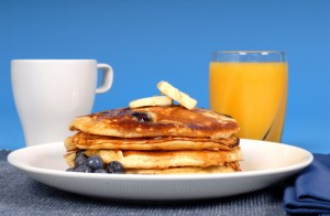 Carla Hall's Lemon Blueberry Pancakes Recipe