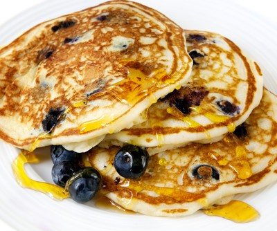 Mario Batali will whip up a great Banana Flambe Pancakes recipe on The Chew February 6, 2015. They'll also show us how to make a face mask using ingredients from our kitchen pantry. (Robyn Mackenzie / Shutterstock.com)