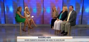 Kathie Lee and Hoda are joined by Amy McCreedy to discuss tips for parents who disagree on disciplining children