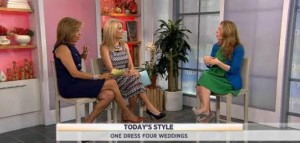 Kathie Lee and Hoda talk with Lisa Bergamotto on how to use one dress for four weddings.