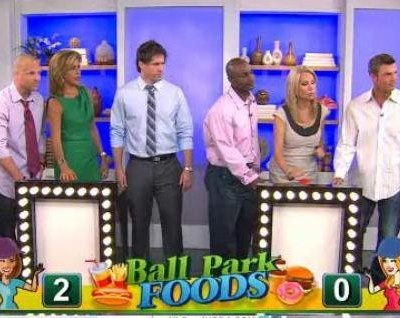 Kathie Lee & Hoda discuss ballpark foods with Madelyn Fernstrom, Today Show Diet and Nutrition expert, and announce the Hot Dad's winner.