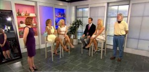 Kathie Lee & Hoda's Ambush Makeovers featured an Adrianna Papel Dress & Andrew Marc Leather Jacket.