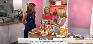 Kathie Lee & Hoda were joined by Sissy Biggers, who shared popular new snacks like Effie's Crackers, Route 11 Potato Chips, pickled figs & more.