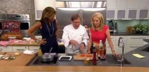 Kathie Lee and Hoda are joined by Jacques Haeringer, who shared his Cold Salmon with Black Sesame Crust and Herb Mayonnaise Recipe