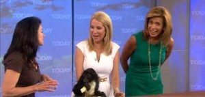 Julie Scardina of Sea World and Busch Gardens joined the ladies with some of endangered species, like bobcats, penguins and spider monkey.
