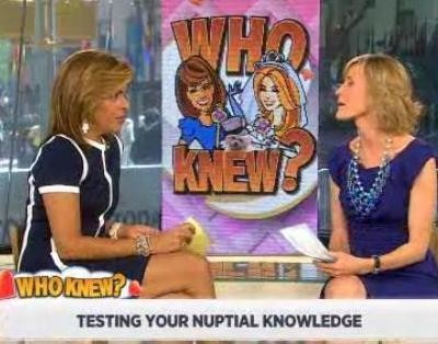 Kathie Lee and Hoda are joined by Carley Roney, editor-in-chief at TheKnot.com, to discuss wedding trivia