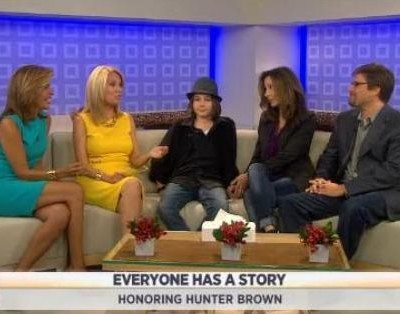 Kathie Lee and Hoda announce this week's winner of their Everyone Has A Story contest, Hunter Brown