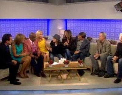 Kathie Lee and Hoda welcome to the studio Brian d'Arcy James and David Friedman to perform the new song for Everyone Has A Story Winner, Hunter Brown