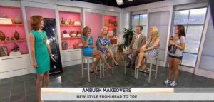 Louis Licari & Jill Martin had Plaza Ambush Makeovers & gave two lucky ladies new looks, including Maggy London & Donna Morgan dress reviews.