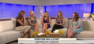 Kathie Lee & Hoda are joined by Molli Serrano, winner of the Everyone Has A Story Contest, as she tells her story with pancreatic cancer.
