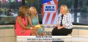 Kathie Lee and Hoda kicked off a five-part series on Made In America as Joey Fortman bought all American products for one week for her family