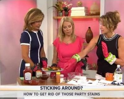Kathie Lee & Hoda talked with Julie Edelman who shared solutions for common summer stains, including BBQ sauce, ketchup, blueberries & more.