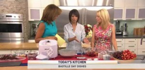 Kathie Lee & Hoda welcomed Chef Dominique Crenn who shared her Vegan Cherry Ice Cream with Oat-Basil Soil and Chocolate Branches recipe.
