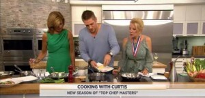 Curtis Stone, celebrity chef & Top Chef Masters host, shared his recipe for Seared Scallops with Coconut Lime Sauce, Baby Corn and Snap Peas