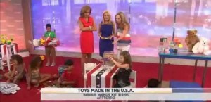 Laurie Schacht shared toys for your kids made in America, including Slinky, Vermont Teddy bears, Arterro Bubble Wand Kits reviews and more.