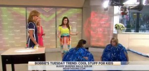 Kathie Lee & Hoda welcomed Bobbie Thomas to discuss the latest and greatest for kids, including Blooming Bath, crayon sash and much more.