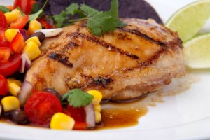 Summer Grilled Chicken with Avocado Salsa Recipe