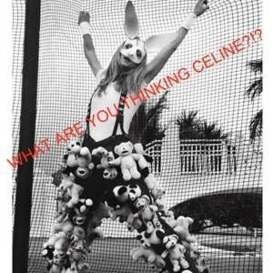 Celine Dion's Stuffed Animal Pants for V Magazine