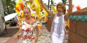 Kathie Lee and Hoda took The Today Show to the Bahamas and ate pistol, an aphrodisiac, took part in Junkanoo and Atlantis Resorts reviews.