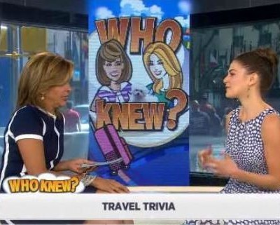 Kathie Lee and Hoda were joined by Sarah Spagnolo for travel trivia and talked about most popular vacation destination & tourist attraction,