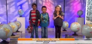 Amy Goodman shared fall fashion trends for kids, including Stinky McGee Necktie, Joe's Jeans, North Face and H&M Puffy Vest review.