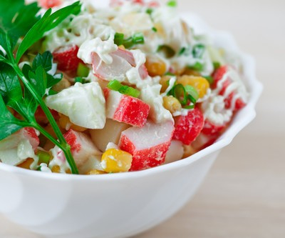 Today Show: Crab, Corn & Tomato Salad with Lemon-Basil Dressing Recipe