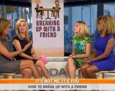 Lesley Jane Seymour and Tiffanie Davis Henry talked about breaking up with your friends and how to do it the right way, including letting it fade away.