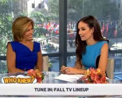 Kathie Lee and Hoda were joined by Catt Sadler, who quizzed you on Fall TV Trivia for Who Knew? trivia game, like judges on The Voice.