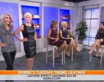 Kathie Lee & Hoda were joined by Bobbie Thomas, who showed off the latest leather trends, including The Limited, Zara, Mango and New York & Company reviews.