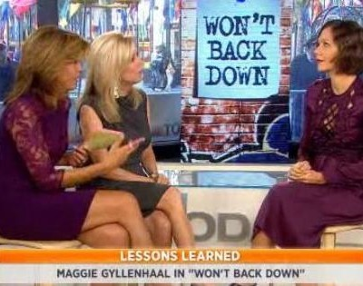 Kathie Lee and Hoda were joined by Maggie as she discussed her new movie Won't Back Down and the message it sends. It is in theaters on September 28 2012.