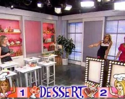 Madelyn's Food Fight was all about sweet treats, as the ladies answered questions on apple crisp Vs apple pie, calories in tiramisu and brownie sundaes.