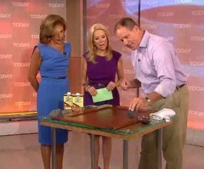 Kathie Lee & Hoda were joined by Lou Manfredini who gave you home repair tips, like Howard Restor-A-Finish reviews and removing hair clogs.