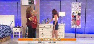 Amy Goodwin who helped the ladies clear the clutter in the bedroom, including Ikat Cylinder Jars, The Original Organizer & Bamboo Drawer Organizers reviews.