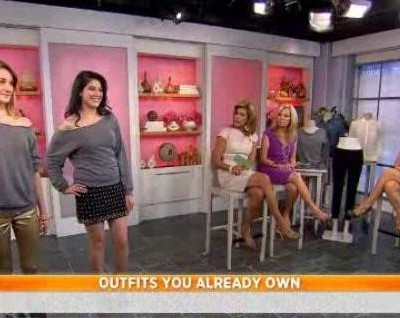 Kathie Lee and Hoda were joined by Michelle McCool, who shared tips on making new outfits out of old clothes, like chambray shirts and that white blouse.