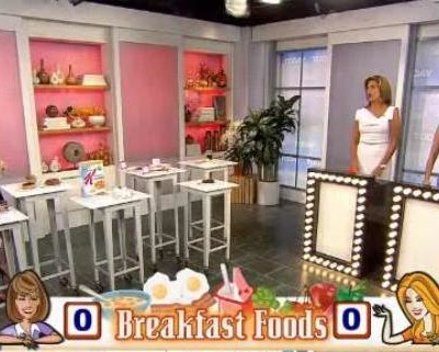 Madelyn Fernstrom shared nutritional information on breakfast foods, like pancakes, cereal, bacon Vs turkey bacon and eggs Vs Greek yogurt.