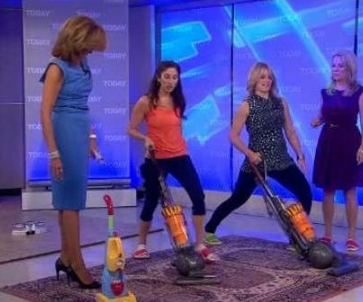 Kathie Lee and Hoda were joined by Christine Lusita who shared some ideas for working out while you clean, including Cleaning Slippers review