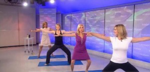 Today Show: Yoga Poses - Knee To Third Eye, Prayer Jump & Temple Pose