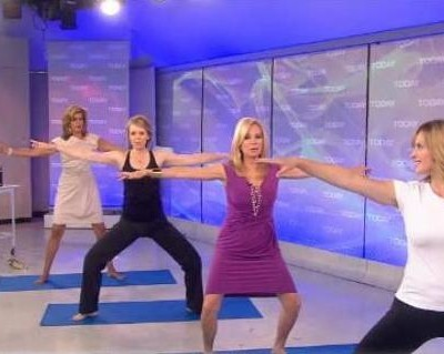 Kathie Lee Gifford and Hoda Kotb were joined by Anita Goa, Yoga and Fitness Trainer, who showed the ladies yoga poses, including Prayer Jump & Temple Pose.
