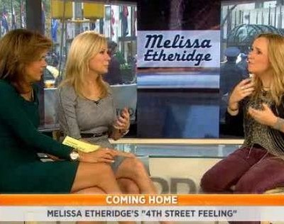 Melissa Etheridge '4th Street Feeling' review, as Melissa sat down with Kathie Lee and Hoda and talked her new album and being a breast cancer survivor.
