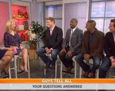 Guys Tell All Panel on Today Show, as the guys answered questions on friends Vs relationship, single moms dating again and long distance relationships.