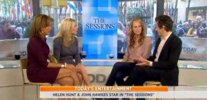 Helen Hunt 'The Sessions' review, as she and John Hawkes talked to the ladies about their new movie and playing the roles.