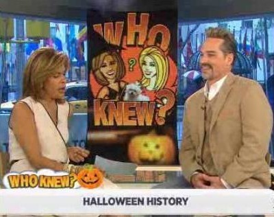 Kathie Lee and Hoda were joined by Ted Pappas, who helped with the Halloween Trivia questions, including Halloween meaning, candy corn & top selling costume