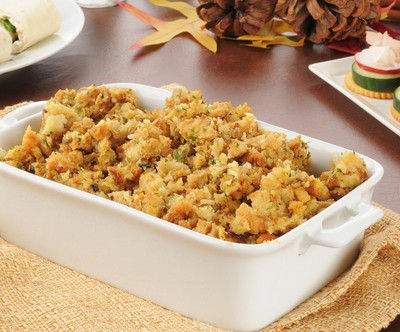 The Chew had a cook-off between three chefs who all helped the less fortuante. One of the chefs, Robert Owens, made a great Cornbread Stuffing with Giblet Gravy recipe. (MSPhotographic / Shutterstock.com)