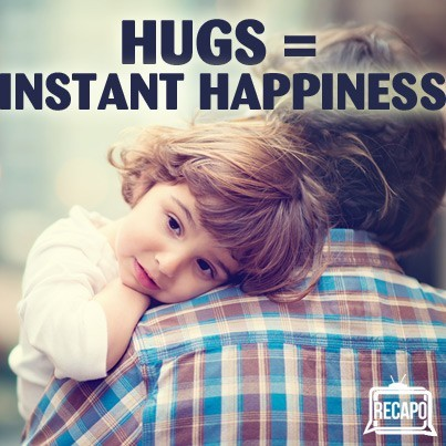Dr Oz and Christine Carter explained how hugs release oxytocin and act as a natural happiness booster. Find out how many hugs you need to get each day.