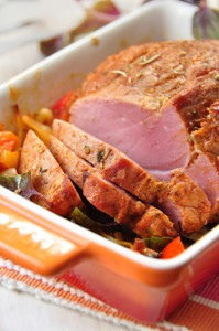 The Talk Sandra Lee's Cranberry Dijon Baked Ham & Sweet Potato Souffle