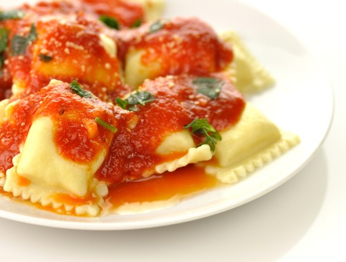 The Chew: Mario Batali's Ricotta and Swiss Chard Ravioli ...
