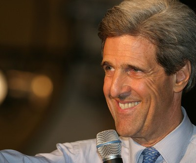 """Secretary of State John Kerry was recently filmed sleeping at a news conference in Polan, or as he put it, taking a """"really long blink."""" (Theodore Littleton / Shutterstock.com)"""