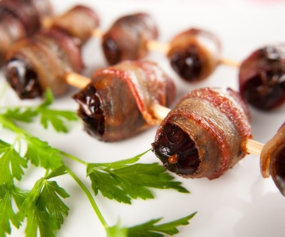 The Talk: Wolfgang Puck Bacon Wrapped Dates Recipe & Chicken Pot Pie