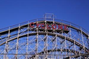 David Letterman: Coney Island Roller Coaster & Powerball Jackpot